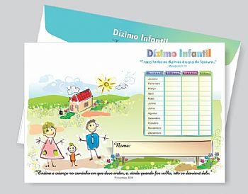 Envelope de Dízimo Infantil Interdenominacional