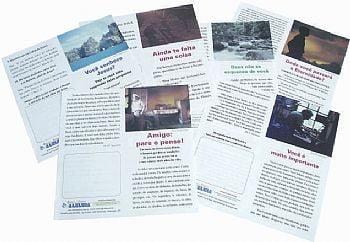 Folhetos para evangelismo - Duplos pacote mixto com 1000 unidades