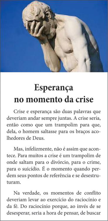 Folhetos para evangelismo - Esperança no Momento de Crise - 6011