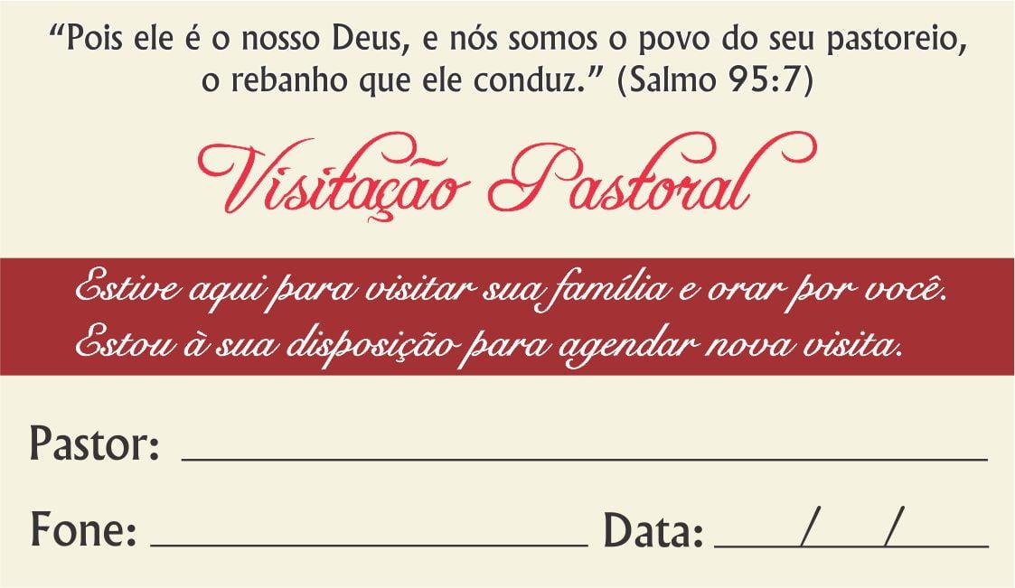 CARTÃO DE VISITA PASTORAL INTERDENOMINACIONAL - 00430