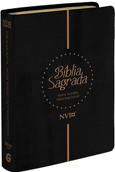 BÍBLIA SAGRADA NVI GIGANTE - LUXO PRETA cod 1881