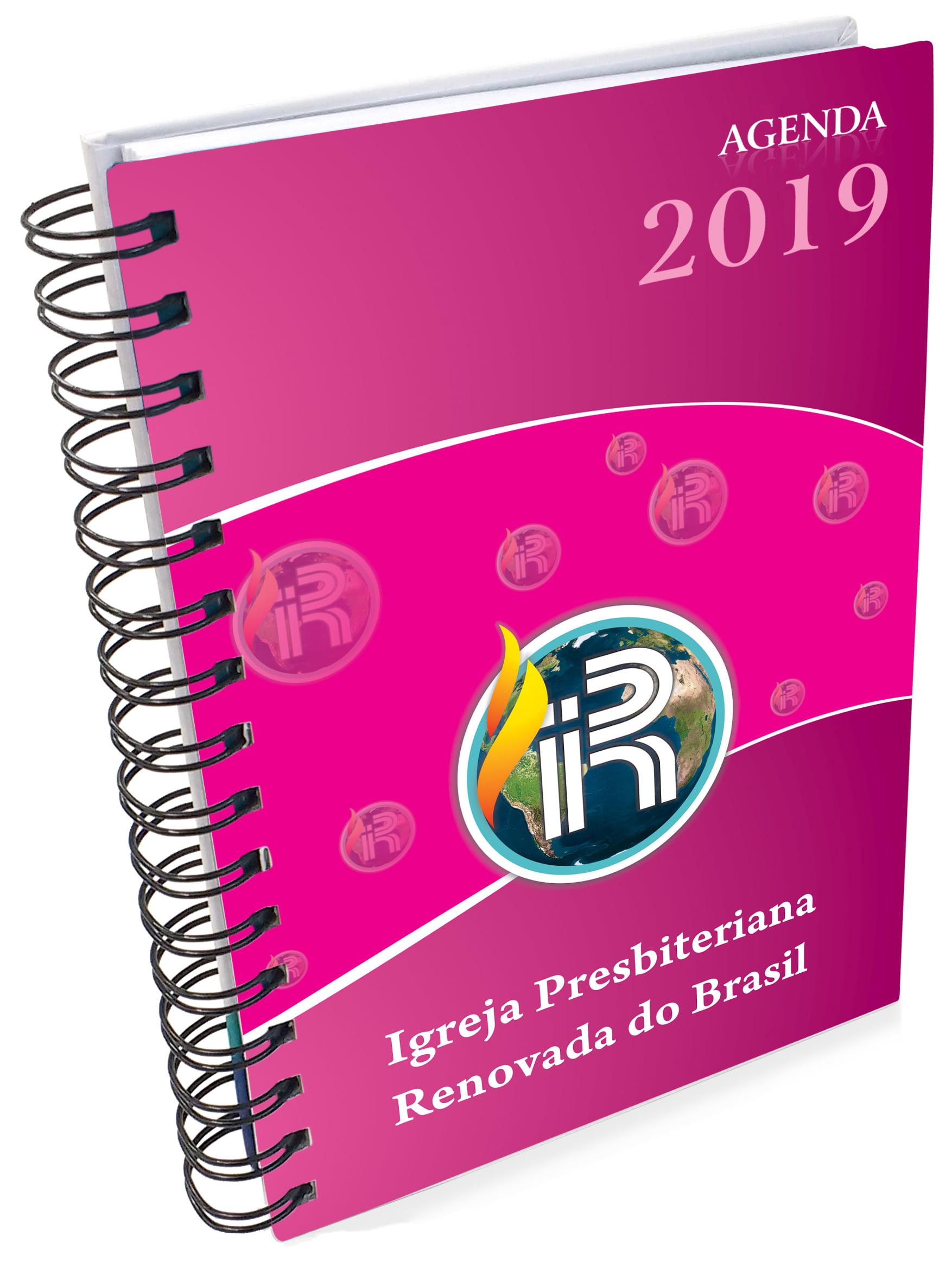 AGENDA DIÁRIA 2019 - IPRB   CAPA ROSA