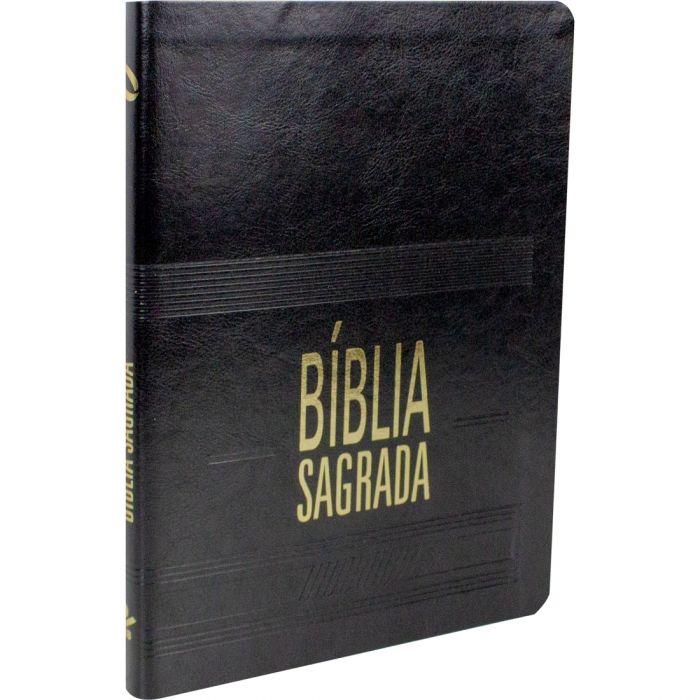BIBLIA SAGRADA SLIM CAPA COURO SINTETICO PRETO