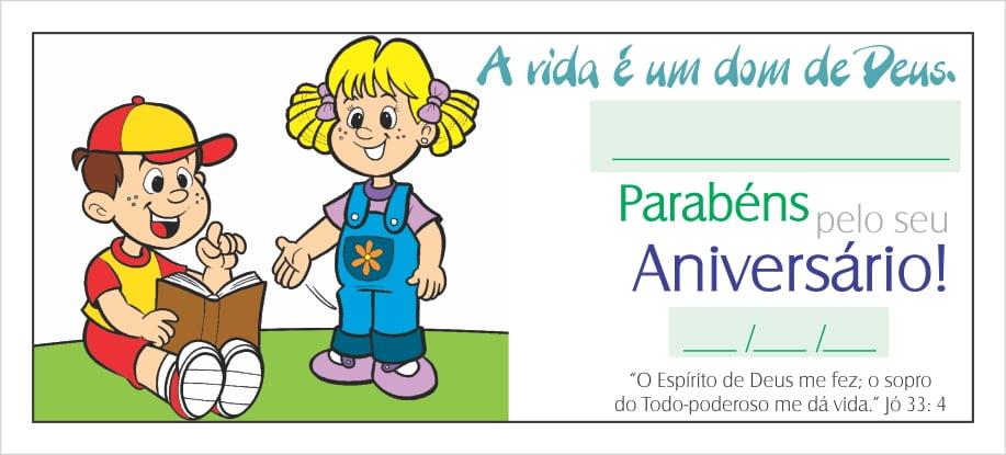 CARTÃO PARA ANIVERSARIANTE - MENINO C/ 25 UNID.