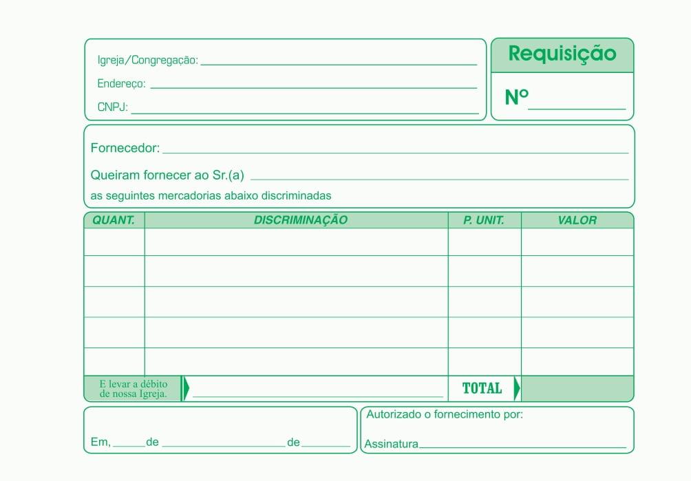 REQUISIÇÃO DE COMPRA 50 FLS 2 VIAS EXTRA COPY - INTERDENOMINACIONAL