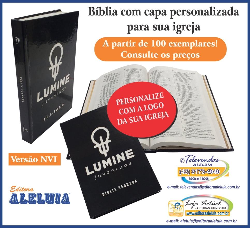 BÍBLIA NVI COM CAPA PERSONALIZADA