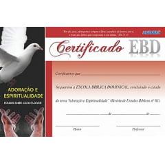 Certificado de conclusão da Revista de Escola Bíblica Dominical nº 81