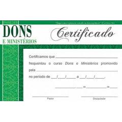 Certificado de Conclusão DONS E MINISTÉRIOS - integração III