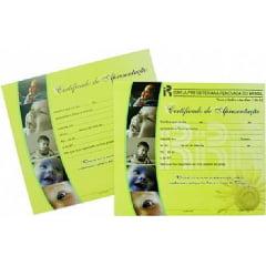 Certificado de apresentação de crianças c/ 20 unids c/logo IPRB -00434