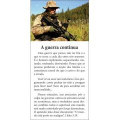 Folhetos para evangelismo - A guerra continua. - 6007