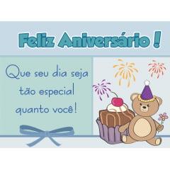 CARTÃO DE ANIVERSÁRIO INFANTIL com 25 unidades - COD KIDS12