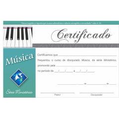 Certificado de Conclusão MUSICA do Discipulado Cristão c/ 10 unid.