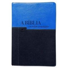 A Bíblia NVI em Ordem Cronológica - Azul Claro e Azul Escuro