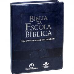 BÍBLIA DA ESCOLA BÍBLICA cod 2077 capa azul