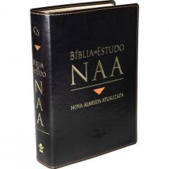 Bíblia de Estudo Nova Almeida capa preta luxo