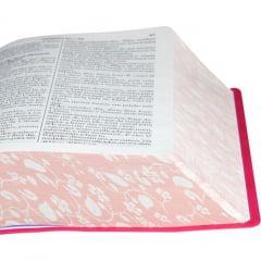BÍBLIA LETRA GIGANTE CAPA FLORIDA PINK