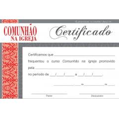 Certificado de Conclusão COMUNHÃO NA IGREJA