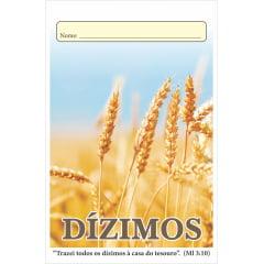 ENVELOPE DE DÍZIMO - FICHA DE CONTROLE *SEMANAL* c/50 unid